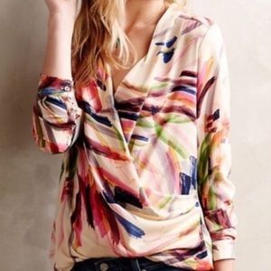 Anthropologie HD in Paris Watercolor Blouse 6